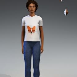 Corgi In Specs - Ladies T-shirt (white)