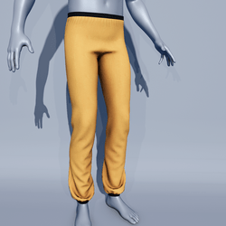 Men Sport Pants - Yellow Butterscotch