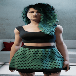 Polkadot Skirt & Cropped Top Outfit 4