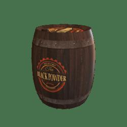 Black Powder Keg Barrel