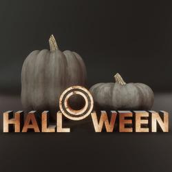 Halloween Pumpkins - Black and Gold