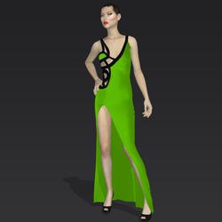 """Amida black green """"Elisea Carter"""""""