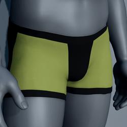 Men Boxer Underwear - Green and Black