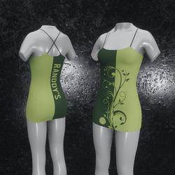 Dress Flora green