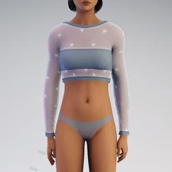 Aqua Star See-Through Sweater
