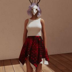 VDay dress wht/red