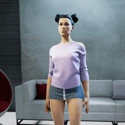 MARINE tee shirt purple Ss