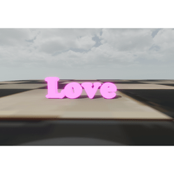 LOVE SIGN LETTERS GLOWING PINK