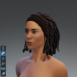 Dreads&headband