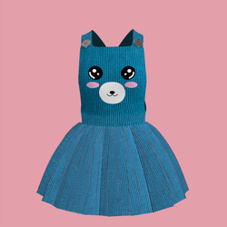 Corduroy Bear Overall Dress 05