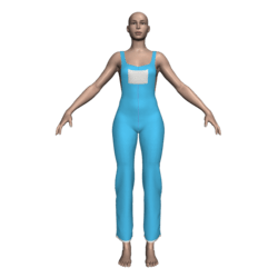 Hemmed Overalls (Light Blue Canvas)