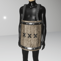 Male wooden barrel armor