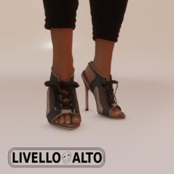 Savage Lace Slate Heels