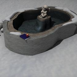 Angel snow bath
