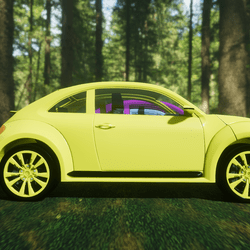 Bright Yellow Punchbuggy Car