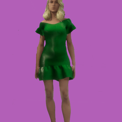 Lois Casual Green Short Dress