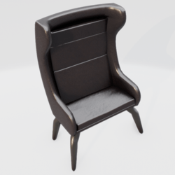 Modern Wingback Chair Brown