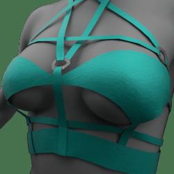 Womens Pentagram Top - Teal