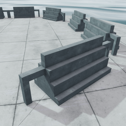 CONCRETE HANGOUT- 4 LEVELS STAIRS - sit/stand