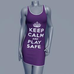 MPP - Keep Calm Dress - Play Safe - Purple