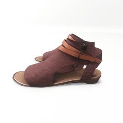 AV 2.0  Open toe textile sandals - red