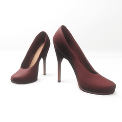 "High heel pumps for ""Alina Daisy highheels"" and ""Nicci"" avatar - burgundy"
