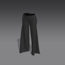 "Long ""Phat"" Rave Pants - Black (MsAquaria)"