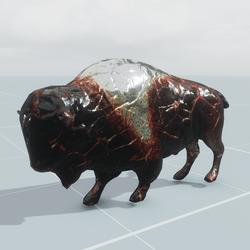 Animal bison - static
