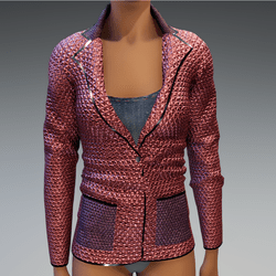 Shinny Jacket with shirt