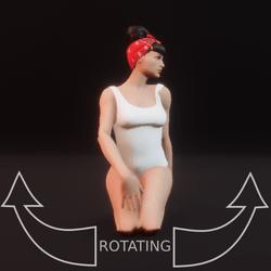 model pose sit 05 rotating