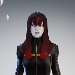 PM - Female Hair 01 - Red Color