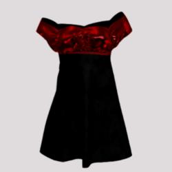 Evening dress (red & black)