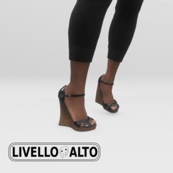 Silver Fusion Wedge Heels