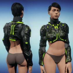Sci-Fi Armor Top part 1/2 (green)