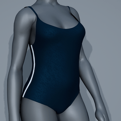 Body Swimsuit - Blue and White