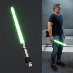 Light Saber Green_male