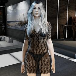 Black Transparant Dress Rosa
