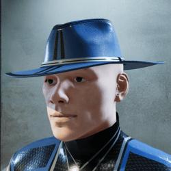 Dark Baby Blue and Black Hat (inverted)