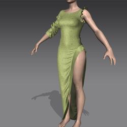 Masoom silk gown pistachio