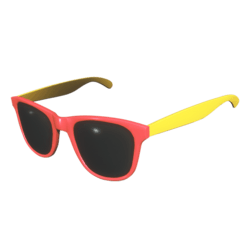 Sunglasses Red Yellow - Female
