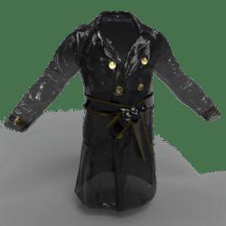 Vinyl Trench coat male