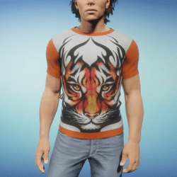 Shirt man tiger