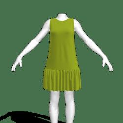 JENNY tent dress lime