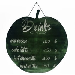Apple Chalkboard - Drinks Menu