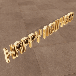 Happy New Year Floor Sign