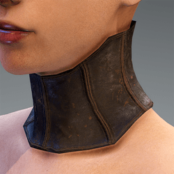 Neck Addon Brown Gray Leather steampunk
