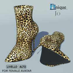 Jo- Leopard Print Stiletto Ankle Boots, Red Base -FITS LIVELLO ALTO/Alina/DAISY heel Female Avatar.