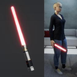 Light Saber Red_female