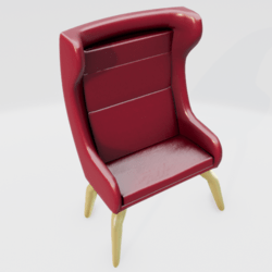 Modern Wingback Chair Red