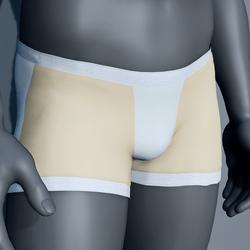 Men Boxer Underwear - Cream and White
